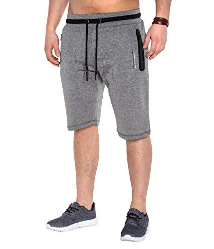 BetterStylz Itch Kurze Jogging-Hose Sweat-Shorts Bermuda Fitness Hose div. Farben (S-XXXL) (L, Dunkel Grau/2TNE)