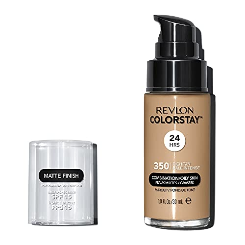 Revlon ColorStay Base de Maquillaje piel mixta grasa FPS15, #350 Rich Tan 30ml