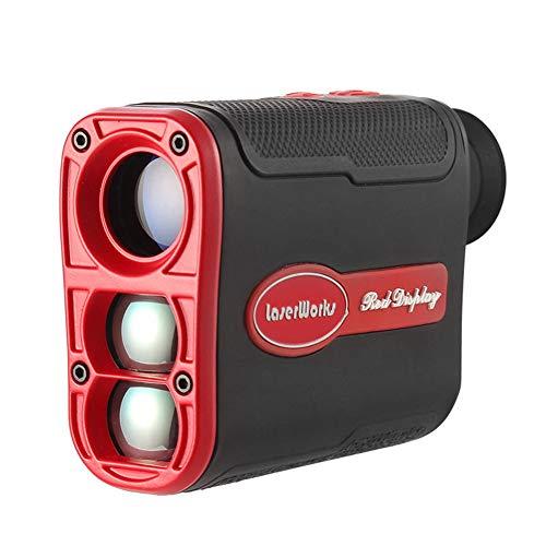 JYXZ Golf-Entfernungsmesser Entfernung Geräte Bereichs-Scan Fahnenmastschloss Zum Outdoor-Aktivitäten, Black Red