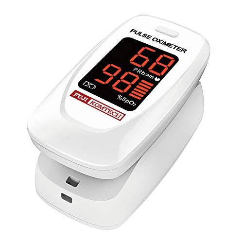 富士コンテック パルスオキシメーター 医療機器認証 FC-P01/W ホワイト 酸素濃度計 医療用 看護 家庭用 介護 国内検査済