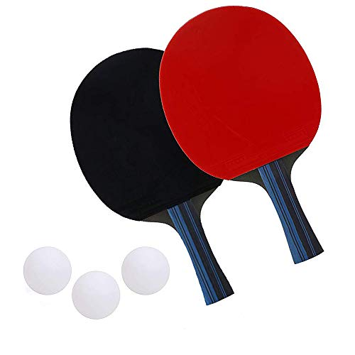 Fantastic Deal! Bocotous Table Tennis Set, Professional Ping Pong Racket Paddle Set Pack of 2 Bats,3...