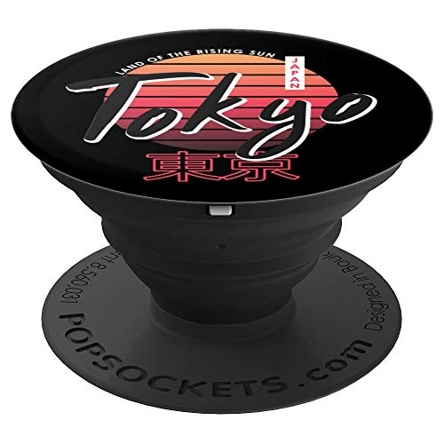 Retro Tokyo Japan PopSockets Grip and Stand for Phones and Tablets