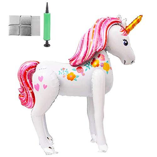 Amycute Decoracion Cumpleanos Unicornio Globos, fiesta unicornio globos gigantes unicornio Súper Unicornio Modelo Globo de Papel de Aluminio, Juguetes para la Boda, Fiesta, Regalo de los niños