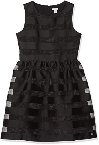 ESPRIT KIDS Mädchen Woven Dress Tra Kleid, Schwarz (Black 020), 164 (Herstellergröße: L)
