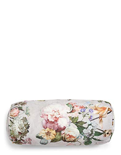 ESSENZA Nackenrolle Fleur Blumen Pfingstrosen Tulpen Polyester Grau, 22x50