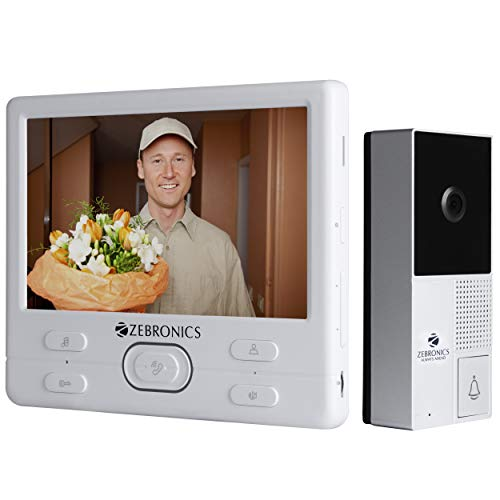 ZEBRONICS Video Door Phone with 7 inch Screen (ZEB-VD7WR)