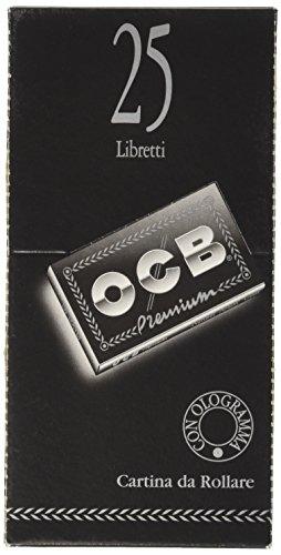 OCB 2EBT1794 - Cartina da Rollare per sigarette, Nero, Confezione da 25 Libretti