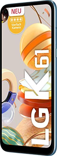 LG K61 Smartphone 128 GB (16,59 cm (6,53 Zoll) FHD+ Display, Premium 4-Fach-Kamera, MIL-STD-810G, DTS:X 3D Surround Sound) Weiß