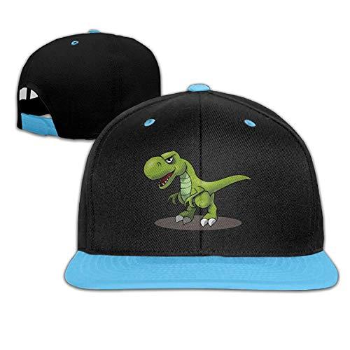 Kids T-Rex Cartoon Dinosaurs Falt Hat Snapback Baseball Cap