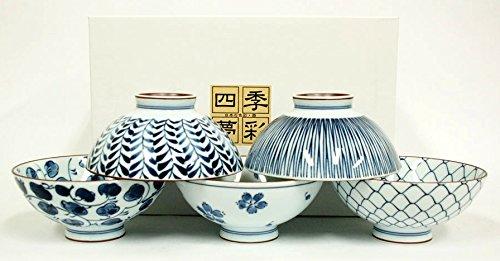 Japan Reisschalenset TAYO-CHAWAN japanische Porzellan Reisschale 5er Set in Geschenkbox