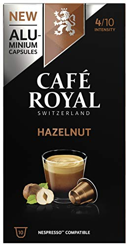 Café Royal Hazelnut Flavoured Edition 10 Nespresso, kompatible Kapseln (aus Aluminium, Intensität 4/10), 1er Pack (1 x 10 Kaffeekapseln)