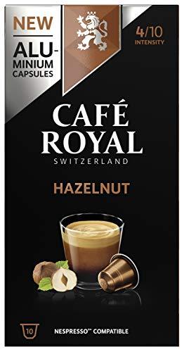 Café Royal Flavoured Edition Noisette 100 Capsules en Aluminium Compatibles avec le Système Nespresso (R)*; Intensité: 4/10; (Lot de 10X10)