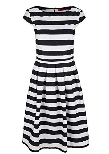 s.Oliver Damen Kleid kurz Midnight Blue Stripes 42