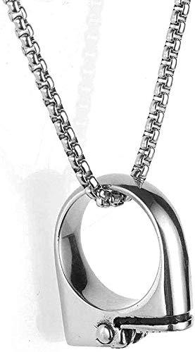 ZHIFUBA Co.,Ltd Collar Collar de Acero Inoxidable Collar de joyería para Hombre Anillo de Acero de Titanio Collar con Colgante Regalo para Mujeres Hombres