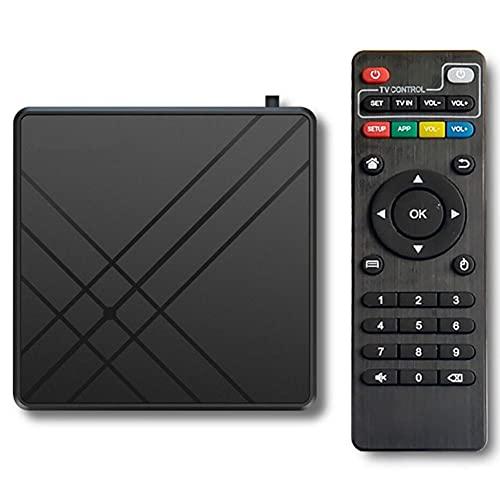 SSRSHDZW Smart Network TV Box para Android 10.0 Sistema operativo - 4GB RAM 32GB ROM Smart TV Set Top Box - 4k 3D HDR Set Top - Soporte DLNA
