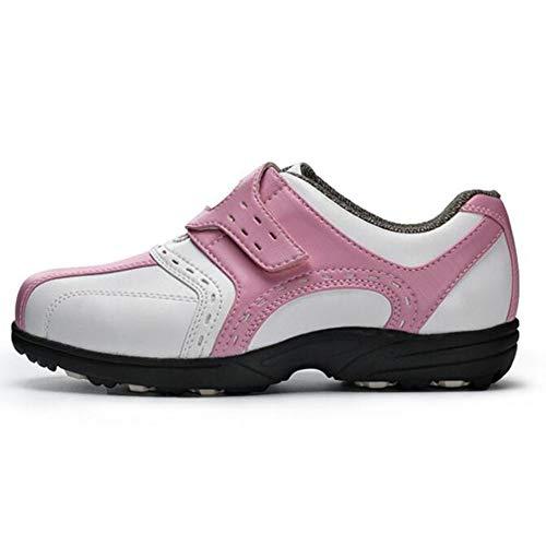 XIANGYANG Damen Golfschuhe, Multifunktionale Damen Golfschuhe rutschfeste Kinderschuhe für Damen und Kinder,Rosa,36