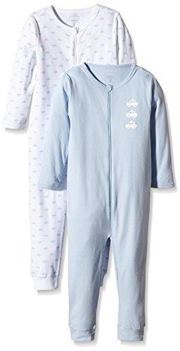 NAME IT Jungen Einteiliger Schlafanzug NITNIGHTSUIT 2P ZIP M B NOOS, 2er Pack, Gr. 104, Mehrfarbig (Cashmere Blue)