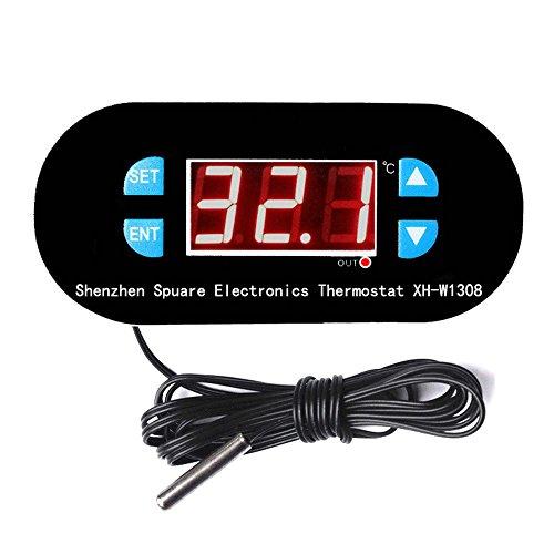 Termostato W1308 AC 220 V Digital LED Sensor de Temperatura Panel Micro Digital Termostato -55-120 °C Electronic Temperatura Control