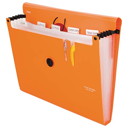 Five Star 6-Pocket Expanding File Organizer, Plastic Expandable Letter Size File Folders with Pockets, Home Office Supplies, Portable Paper Organizer for Receipts, Bills, Documents, Orange (72923) Photo #4