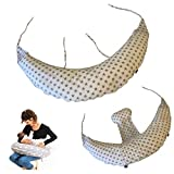 babycangaroo® cuscino gravidanza per dormire e allattamento, supporto lombare cervicale e pancia, made in italy, oeko-tex (bianco stelle, grigio)