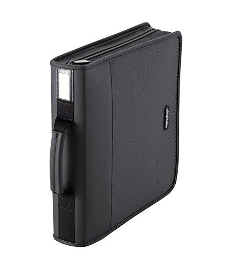 エレコム DVD CDケース ウォレット ファスナー付 160枚収納 CCD-SS160BK