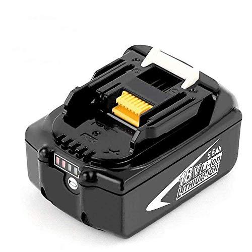 Boetpcr BL1860B 18V 5.5Ah lithiumvervanging voor Makita Accu BL1860B BL1860 BL1850B BL1850 BL1840B BL1840 BL1830B BL1830 BL1820 LXT-400 met indicator