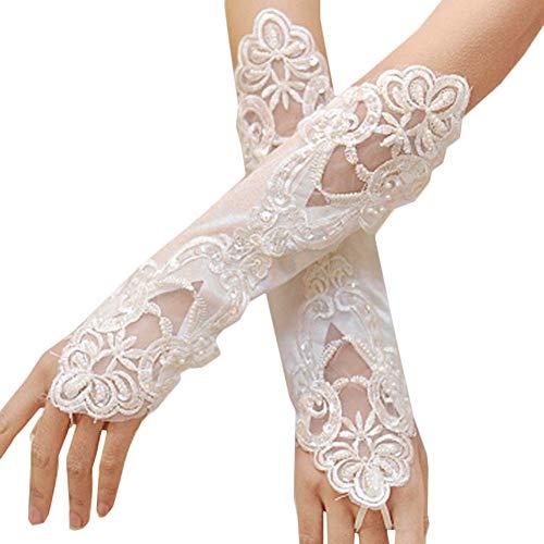 Gants de mariée mariage robe de soirée dentelle longs gants A16