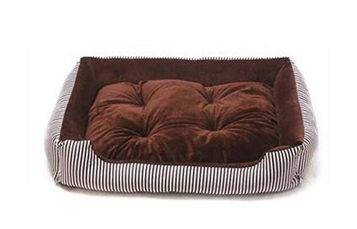 Pet Supplies Petsupplies Big Dog Bed Sleep Couch Striped Detachable Dog Cat Mattress For Cats Pitbull Bulldog Sofa Kennels Bedding Pads Dark Brown Stripe-Xs 45X28X12Cm