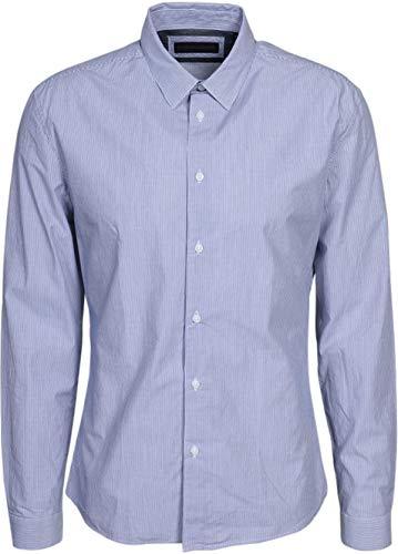 Drykorn Herren Hemd Keez mit Camouflage-Detail hellblau XL
