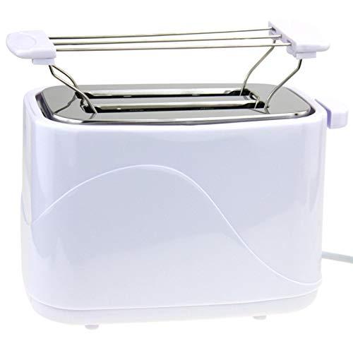 2 Scheiben Toaster 700Watt Doppelt Toast Toastautomat Küchenzubehör inklusive Brötchenwärmer mit Krümelschublade Sandwich Weiss