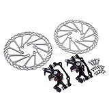 Homo Freno mecánico de Disco para Bicicletas de montaña de rotación G3(F-160 mm/R-140mm&F-180 mm/R-160 mm)/Lija Flexible+Disco(mecánico)