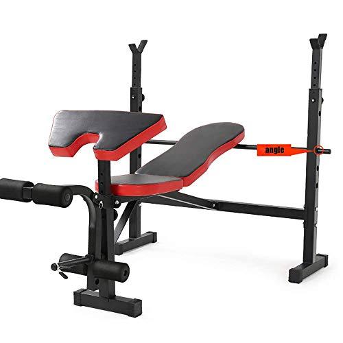 BATOWE Home Gym Verstellbare Hantelbank Workout Bench Multifunktions Gewicht Bankdrücken Rack-Barbell Barbell Squat Rack-Bettrahmen Heimfitnessgeräte höhenverstellbare Montage Professional