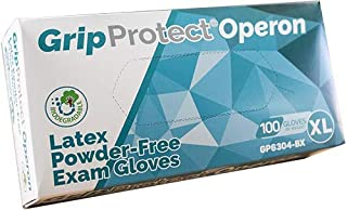 GripProtect® Operon Latex Exam Gloves, Disposable, Textured (100/Bx) (X-Large)