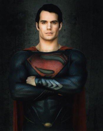 ブロマイド写真★ヘンリー・カヴィル/『マン・オブ・スティール』/腕組むスーパーマン