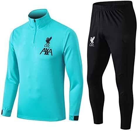 N/A Offizielle Fußball-Geschenk Langarm Liverpool Tracksuits Football Wear Verein Uniform Trainingsanzug Liverpool Wettbewerb Anzug Herren-Top + Pants (Size : M)