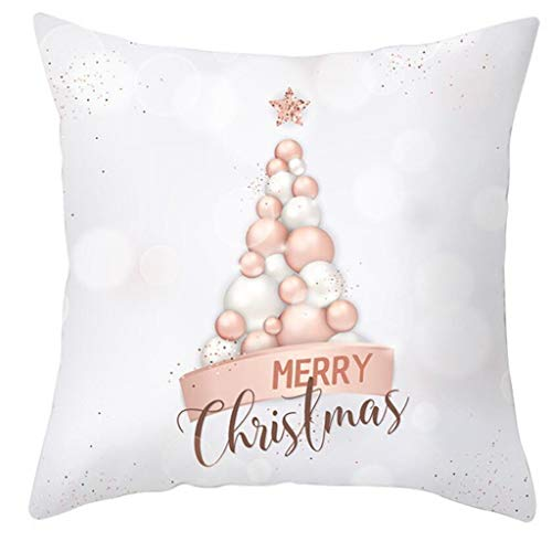 Christmas Throw Pillow Covers,Creative Cushion Case for Sofa Couch 18x18 Inches Cotton Linen Christmas Pillow Case Decoration Pillow Cover Pillow Cover