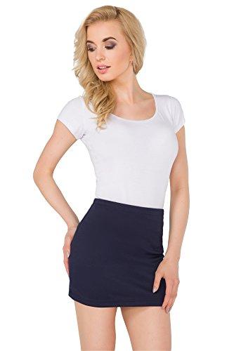 FUTURO FASHION® - Damen Minirock - elastisches Material - körperbetont - ideal für den Sommer - auch in Übergrößen - Größe 36-50 - PA11 - Dunkelblau - 36 (S)
