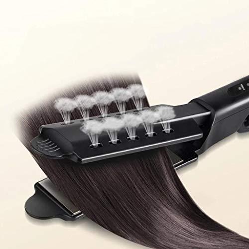 Anliyou 2 in 1 Haarglätter mit 4 Einstellbaren Temperaturen Glätteisen und Lockenstab 2 in 1 Schwarz Hair Straighteners Antistatische Keramik-Turmalin-Beschichtung