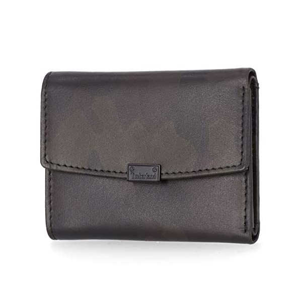 Timberland Women's Leather RFID Small Indexer Snap Wallet Billfold 1