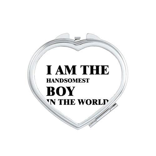 DIYthinker Je suis Le Maquillage Compact Mirror Heart Boy Beau Portable Mignon de Cadeau Miroirs de Poche à la Main Multicolor