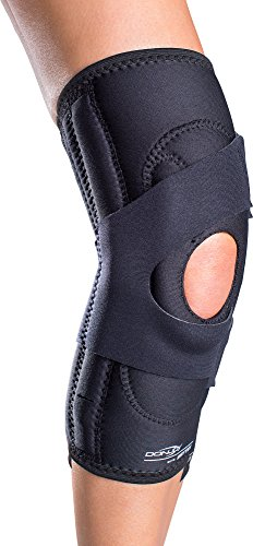 DonJoy Lateral J Patella Knee Support Brace with Hinge: Drytex, Right Leg, Large