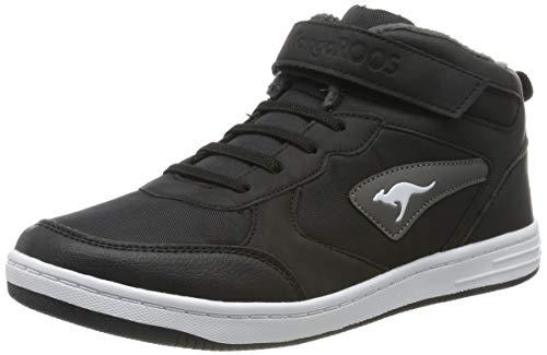 KangaROOS Kalley Ev S Unisex-Kinder Sneaker, Mehrfarbig (Jet Black/Steel Grey 5003), 34 EU