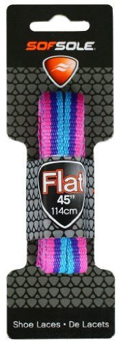 "Sof Sole Flat Laces, Rainbow Pink/Purple/Blue, 45"""