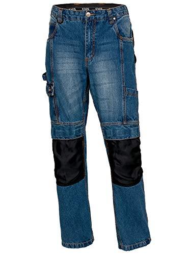 Arbeitshose Jeans Schutzhose Bundhose Baumwolle Funktion-Taschen(CXS-Jeans) (52)