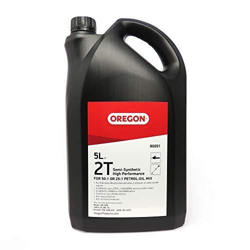 Oregon 90891 2-Stroke Semi-Synthetic Low Smoke Oil, 5 Litres