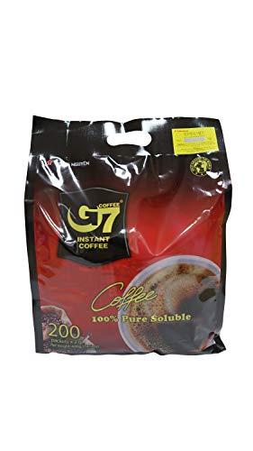G7 Black Instant Vietnamese Coffee 14.10oz(400g), 200 Sticks
