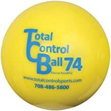 Total Control Sports Baseball Size Batting Ball (Pack of 12), Yellow