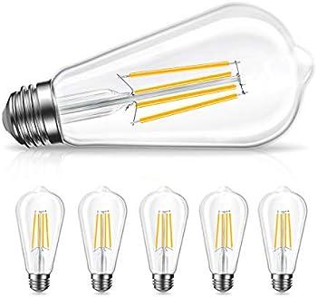 6-Pack Amico LED Light Bulbs