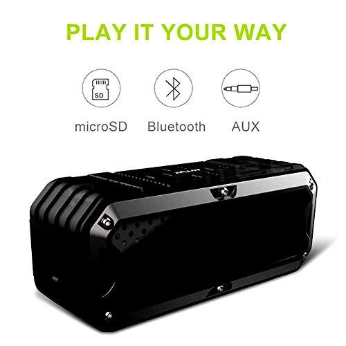 Mengen88 Outdoor Bluetooth Speaker, draadloze draagbare speakers, dual-driver ingebouwde Mic Rugged waterdichte schokbestendige powerbank, 14 uur afspeeltijd, verbeterde bas