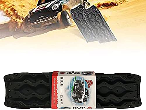 AEGIS light Tire Escaper Traction Mats,Recovery Boards Traction Tracks Mat,Easy to Install, Get Unstuck Fast A Snow Traction Mat or Snow Chain Alternative 1 Pack,Red (Color : Black)